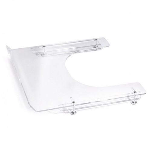 Table transparente pour fauteuil large